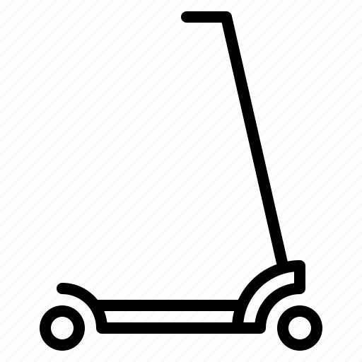 kick, movement, push, ride, scooter, skateboard, transport icon