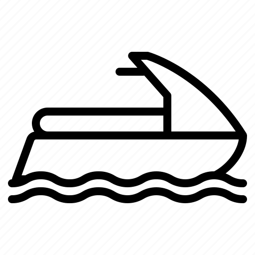 motor, scooter, sea, speed, sports, water icon