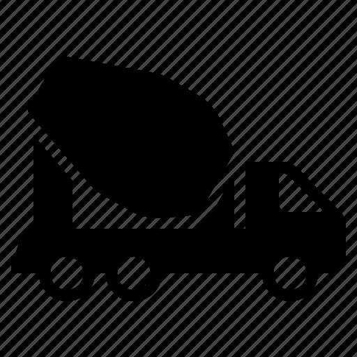 Concrete, construction, transport, transportation, truck, vehicle icon - Download on Iconfinder