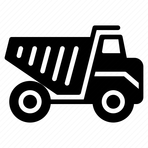construction, dump, heavy, transport, transportation, truck, vehicle icon