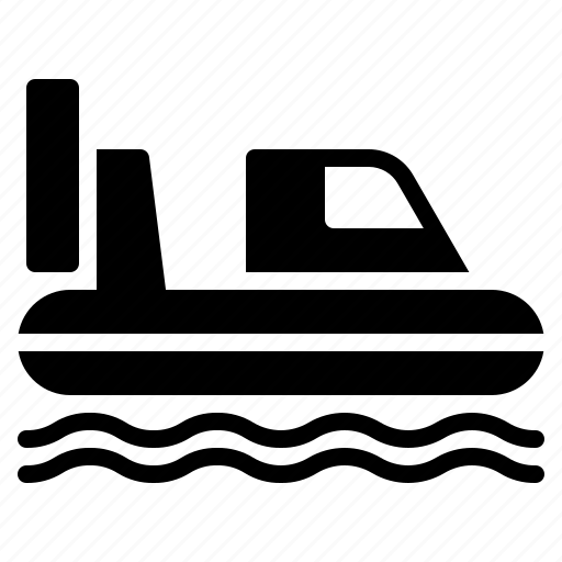 boat, hovercraft, land, rides, transport, vehicle, water icon