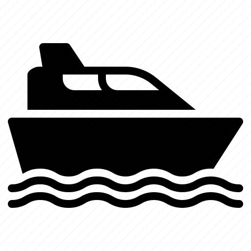 luxurious, sea, ship, transport, travel, vacation, yacht icon