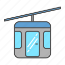 cable, cable car, car, hanging, railway, transportation, vehicle icon