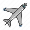 aeroplane, aircraft, airplane, aviation, flight, jet, plane icon