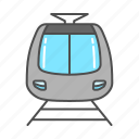 bullet train, railway, tourism, train, tram, transportation, travel icon