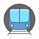 metro, subway, train, transport, transportation, travel, tunnel icon