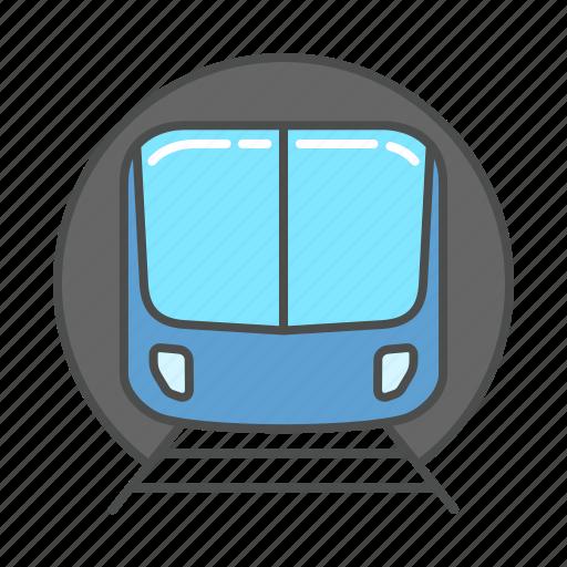 metro, subway, train, transport, transportation, travel, tunnel icon