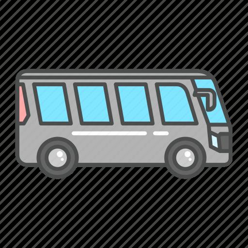 auto, bus, tourism, transportation, travel, van, vehicle icon
