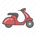automobile, motorbike, motorcycle, scooter, transportation, vehicle, vespa icon