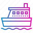 boat, ferry, ocean, ship icon