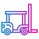 forklift, lift, transport, truck icon