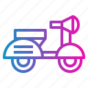 motorbike, motorcycle, scooter, vespa icon