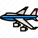 aircraft, airplane, airport, jet, plane, transport, transportation icon