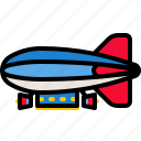 aircraft, airship, balloon, transport, transportation icon