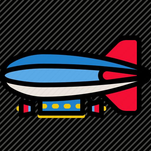 aircraft, airship, balloon, transport, transportation icon