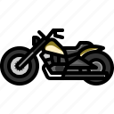 bike, cruiser, motor, motorcycle, transportation, vehicle icon