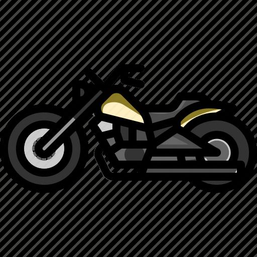 bike, cruiser, motor, motorcycle, transportation, vehicle icon