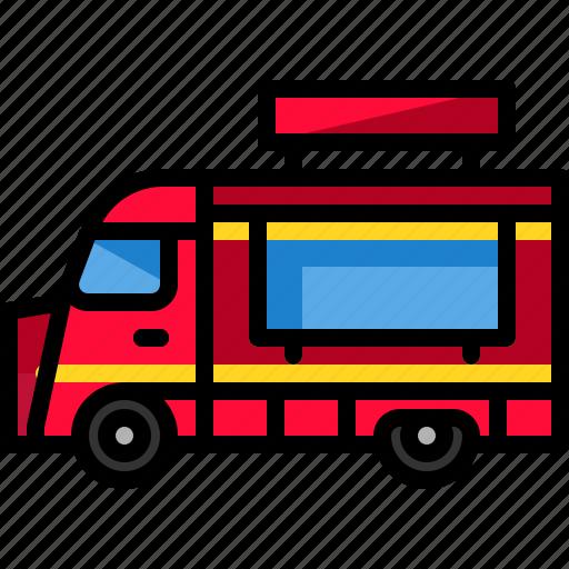 foodtruck, service, transport, transportation, vehicle icon