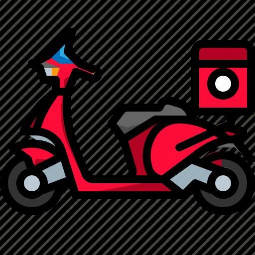 motorbike, motorcycle, scooter, transport, transportation, vehicle icon