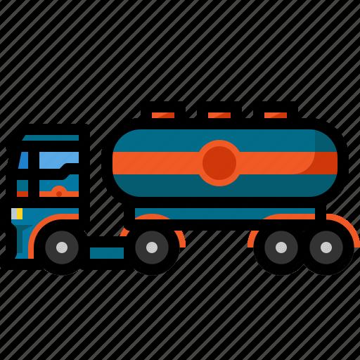 cargo, fuel, gas, oil, tanker, transportation, truck icon