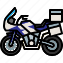 adventure, motorcycle, touringbike, transport, vehicle icon