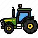 agriculture, farm, machinery, tractor, transportation, vehicle icon