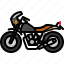 biker, cycle, motorbike, motorcycle, transportation, vintagebike icon