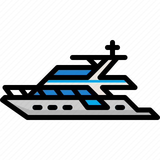 boat, luxury, marine, ship, yacht icon