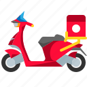 motorbike, motorcycle, scooter, transport, transportation, vehicle icon