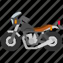 biker, cycle, motorbike, motorcycle, transportation, vintagebike icon