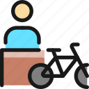bicycle, person
