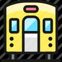 railroad, train, back