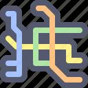 city, map, metro, navigation, train, transportation, underground icon