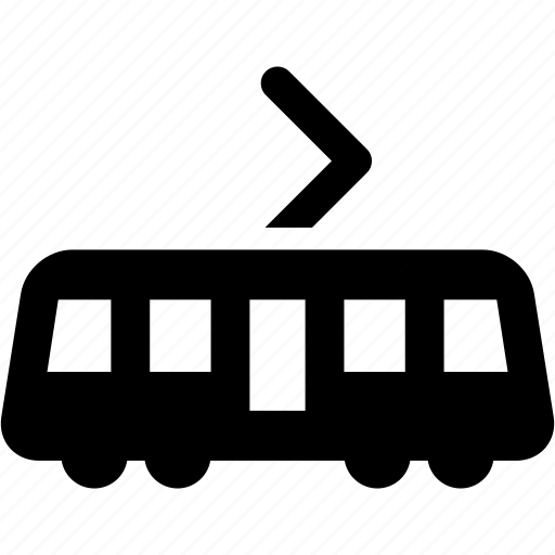 side view, train, tram, tramway, trolley icon