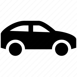car, parking, sedan, side view, vehicle icon