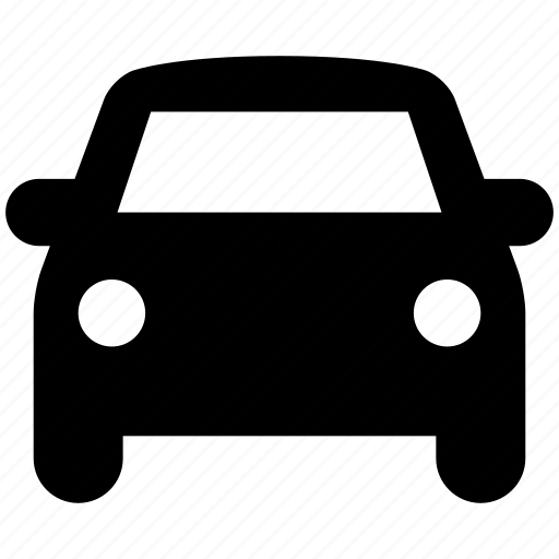 car, front view, parking, sedan, vehicle icon