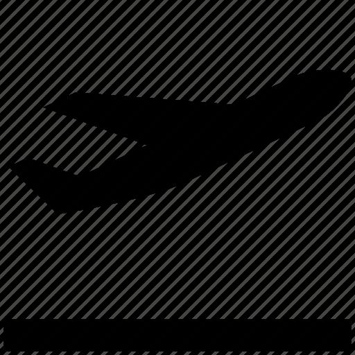 airplane, departure, flight, plane, take off icon