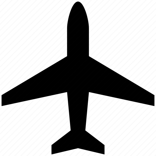 aircraft, airplane, airport, flight, top view icon