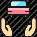 car, insurance, hands