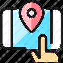navigation, smartphone, finger