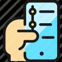navigation, smartphone, hand