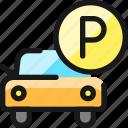 p, parking