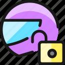 tool, helmet, unlock