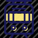 tram, transportation, vehicle icon