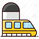bullet, bullet train, electric train, subway, train, tram, transport icon