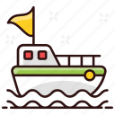 boat, cruise, cruise ship, sea craft, ship, water cargo, watercraft icon