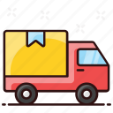 cargo, delivery, delivery van, shipment, shipping truck, van, vehicle icon
