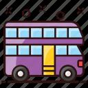 bus, double, double decker, london bus, motorcoach, omnibus, passenger bus icon