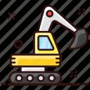 construction machine, crawler, demolition crane, excavator, heavy machinery icon