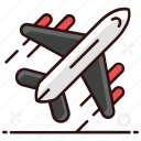 aeroplane, air travel, aircraft, airplane, flight, plane